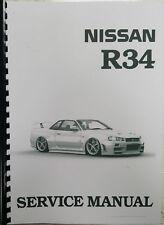 Nissan R34 Skyline service data Spec/trouble Diagnostic Service Manual 1998