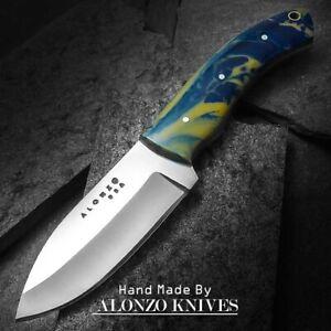ALONZO KNIVES USA CUSTOM HANDMADE HUNTING SKINNING 1095 KNIFE CORELON 23218