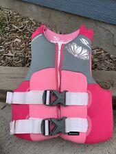Youth Girls 50-90 LB Stearns Neoprene Type IIII Ski Vest Life Jacket Preserver