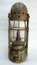 Vintage Rare Iron Wall Hanging Kerosene Oil Lighting Lamp Lantern Glass Globe