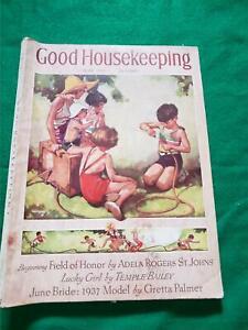 Good Housekeeping Magazine June 1937 Gaffron Cover Swinnerton Walt Disney