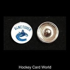 (HCW) Vancouver Canucks NHL Snap Ginger Button Jewelry for Jackets, Bracelets..