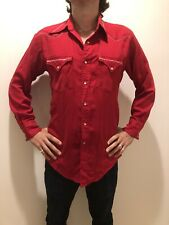 New listing Vintage Stockman Red Embroidered Western Shirt M