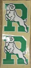 CIS U Sports Regina Rams Football Helmet Decals (set of 2)