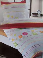 Microfaser Set edel Bettwäsche m. Reißv. Garnitur 135x200, 80x80 Polyester Blume