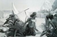 JEWISH WOMEN in Wilderness Water Giving Rock Moses - 1893 Photogravure Print
