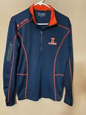 University Of Illinois Columbia Golf Long Sleeve 1/4 Zip Jacket Small Illini