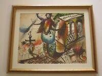 BOB DEWITT DRAWING  1970'S ORIGINAL DRAWING ABSTRACT PAINTING MOD EXPRESSIONIST