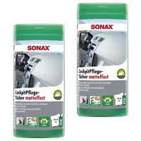 2x SONAX CockpitPflegeTücher matteffect Box Feuchte Tücher Innenraum Pflege