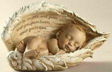 Sleeping Baby in Angel Wings Nursery Garden Memorial Statue
