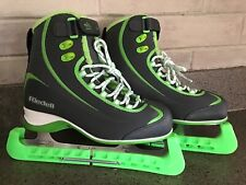New listing Riedell F625 Soar Figure Ice Skates Grey/Lime Size Youth 5 Gr4 Vgc
