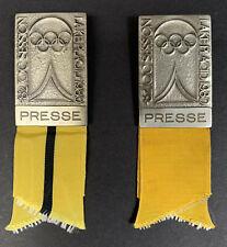 1980 Lake Placid 82nd Ioc Session Badges for Press