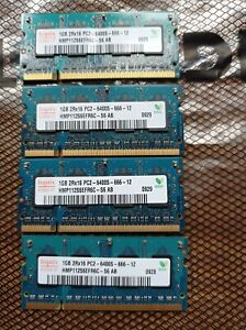 Hynix 4GB (4*1GB) SODIMM  PC2-6400S / DDR2 800Mhz RAM Memory laptop, Mac Etc