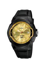 CASIO MW-600F-9 Analog Sport Mens Watch Black Resin MW-600 Original Gold Dial