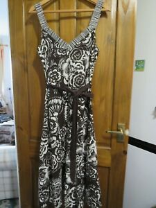 LADIES SOON BROWN WHITE SUN DRESS SIZE 16   HOUSE CLEARANCE