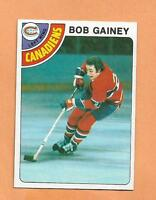 BOB GAINEY  TOPPS 1978-79 CARD # 76 CANADIANS