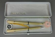 Pour Madame VERGOLDET USUS GERMANY Gold Plated Fountain Pen & Pencil Set w/ Case