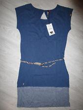 NEU! »Ragwear SOHO - Jerseykleid f. Damen inkl. Gürtel« Gr. S (36), blau