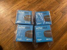 (4) Amazon Alexa Echo Dot (3rd Generation) Charcoal BRAND NEW SEALED