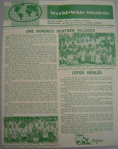 World-Wide Missions - June 1960 Magazine - Basil Miller - evangelical