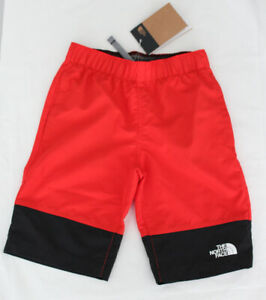 NWT $35 The North Face Boys Red Class V Water Swim Shorts Small (7-8 Years Old)