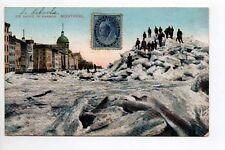 CANADA carte postale ancienne MONTREAL ice shove in harbor