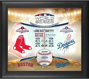 """Boston Red Sox vs. LA Dodgers Framed 15"""" x 17"""" 2018 World Series Matchup Collage"""