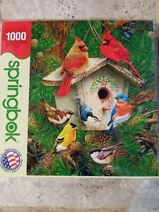 Springbok Puzzle Feathered Retreat 1000 pieces NEW UNOPENED birds nature