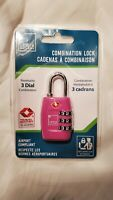 Lewis N. Clark TSA-Approved Combination Luggage Lock Pink