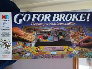 Vintage Go For Broke! Game by MB Games 1985 PRE-OWNED IN GOOD CONDITION complete