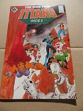 Official Teen Titans Index 4 of 5  .  ICG . 1985 -  VF / VF+