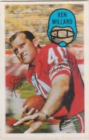 KEN WILLARD 1970 Kelloggs 3-D Football card #33 San Francisco 49ers NR MT