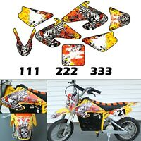 Burly Effects Graphics kit for Razor MX500 & MX650 dirt bikes stickers decals
