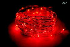 60 LED 10ft/3m Copper Wire String Lights, Battery Powered, Party, Xmas, Wedding