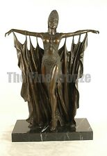"Signed D.H.Chiparus, Bronze Statue Art Deco Dancer Bronze Sculpture ""Semiramis"""