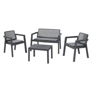 Emily Lounge set salotto da giardino con un tavolo un divano e due sedie esterno