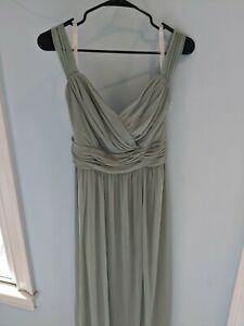 Davids Bridal Dusty Sage bridesmaid dress