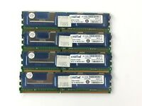 8GB Kit (4x2GB) Crucial PC2-5300 DDR2-667MHz ECC Fully Buffered CL5