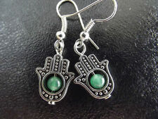 Jade Tibetan Silver Costume Earrings