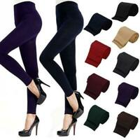 Women Thick Fleece Warm Leggings Lined Thermal Stretchy Slim Skinny Pants