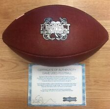2015 NOTRE DAME FOOTBALL VS NAVY GAME USED FOOTBALL RESPECT HONOR TRADITION
