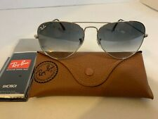 Ray-Ban Aviator Sunglasses RB3025 58mm 003/32 Silver Frame w/ Grey Gradient Lens