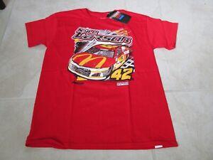 NEW NASCAR Kyle Larson #42 McDonalds Racing T-SHIRT YOUTH MEDIUM Red