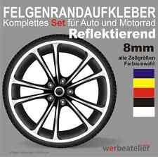 REFLEKTIEREND BLAU Motoking Felgenrandaufkleber im GP Design REFLEKTIEREND//f/ür 10 bis 14