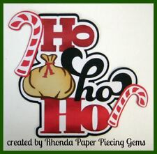 HO HO HO CHRISTMAS title paper piecing Premade Scrapbook Pages album  by Rhonda