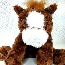 Unipak Brown/White Horse/Donkey Stuffed Animal Soft Toy Friend Plush