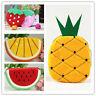Womens Girls Fruits Watermelon Portable Zipper Coin Purse Wallets Case Plush Bag