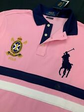 Polo Ralph Lauren Big Pony Crest Embroidered Custom Slim Fit Mens Mesh Shirt