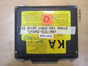 92 ACURA VIGOR ABS MODULE #39790-SL5-A01 *See item description* BOX-3394