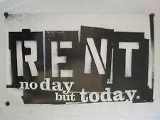 """RENT-BROADWAY MUSICAL POSTER-1990'S NO DAY BUT TODAY-21 3/4"""" X 36""""-RARE & GREAT"""
